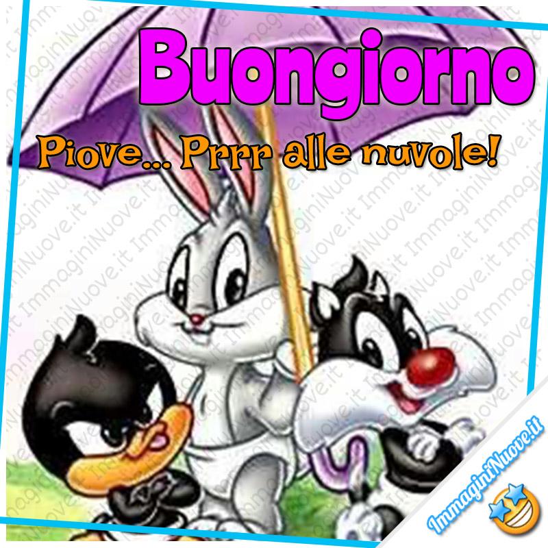 Buongiorno con la pioggia (immagini Looney Tunes)