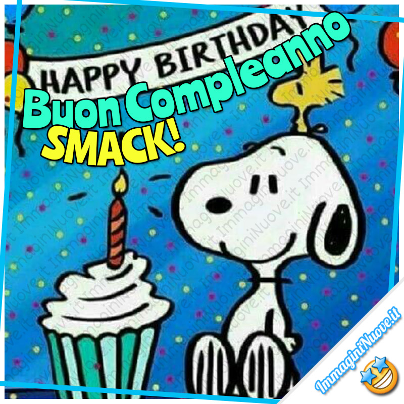 Buon Compleanno SMACK! Snoopy