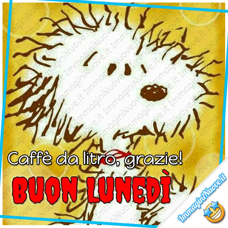 Caffè da litro, GRAZIE! Buon Lunedì Snoopy