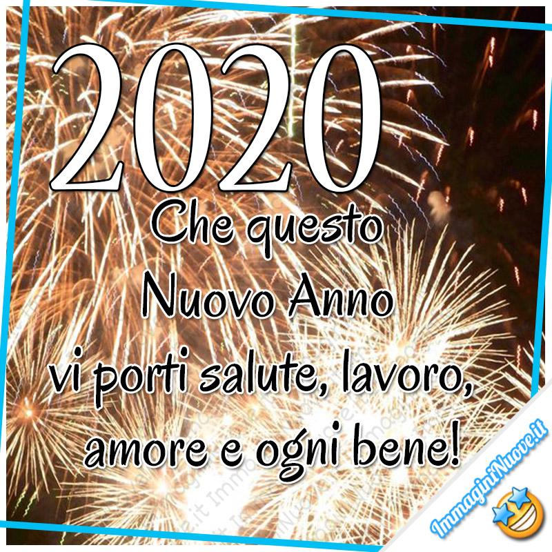 2020 Che questo Nuovo Anno vi porti salute, lavoro, amore e ogni bene!