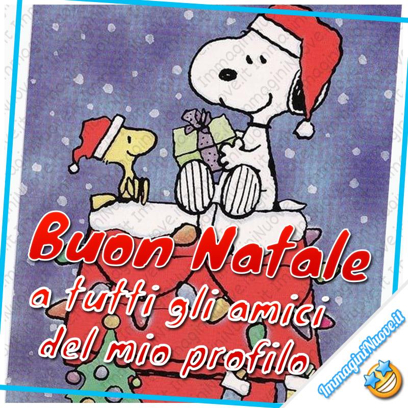 Buon Natale a tutti gli amici del mio profilo (Snoopy)