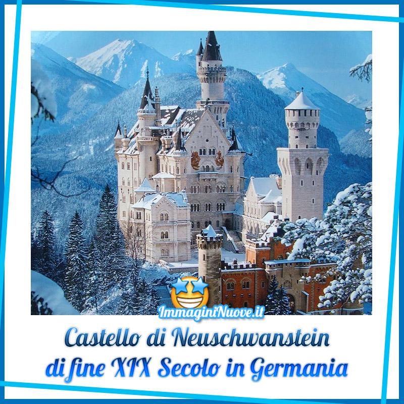Castello di Neuschwanstein di fine XIX Secolo in Germania