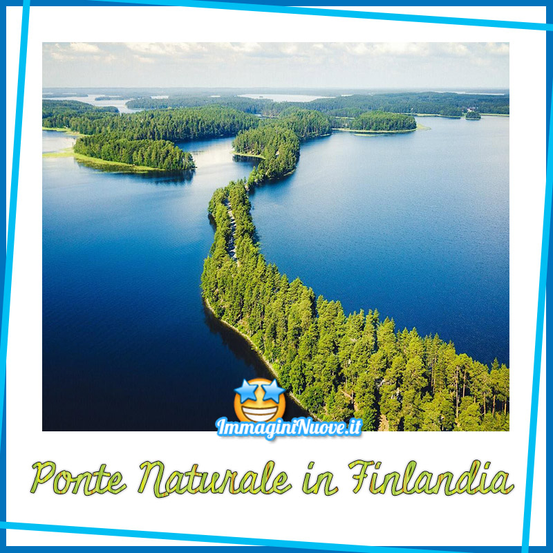 Ponte naturale in Finlandia