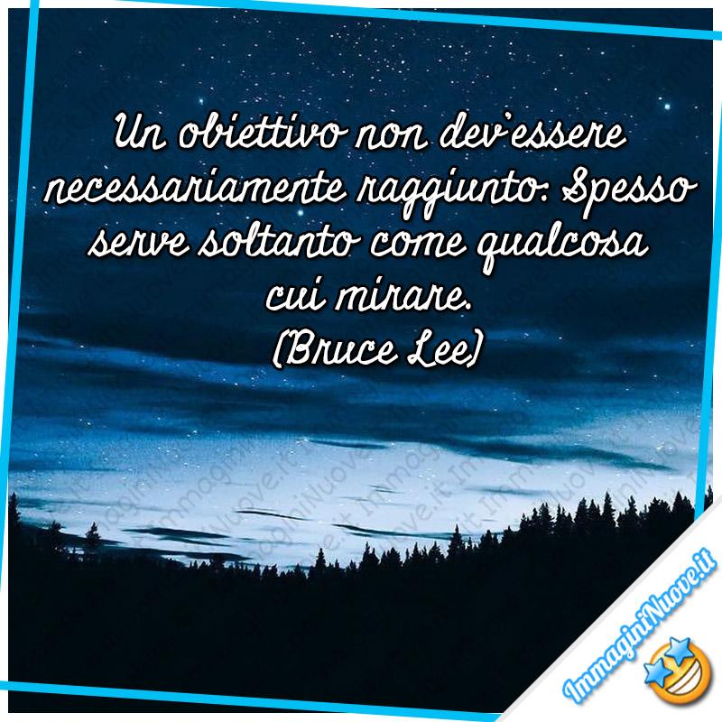 """""""Un obiettivo non dev'essere necessariamente raggiunto: spesso serve soltanto come qualcosa cui mirare."""" (Bruce Lee)"""
