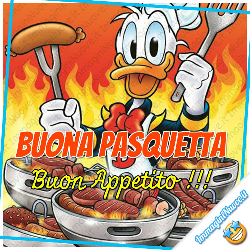 """""""Buona Pasquetta, Buon Appetito !!!"""" - immagini nuove con Paperino"""