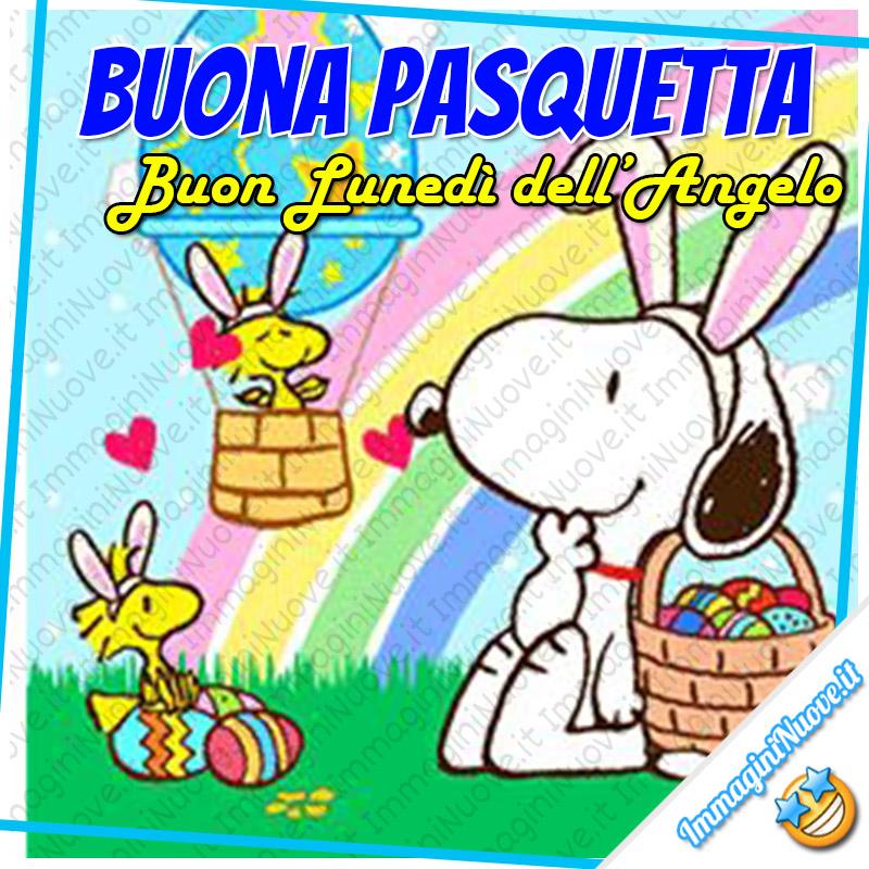 """""""Buon Lunedì dell'Angelo"""" - Snoopy e Woodstock"""