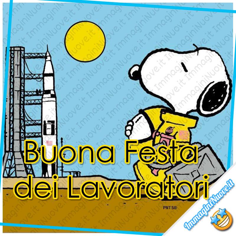 """""""Buona Festa dei Lavoratori"""" - immagini nuove con Snoopy"""