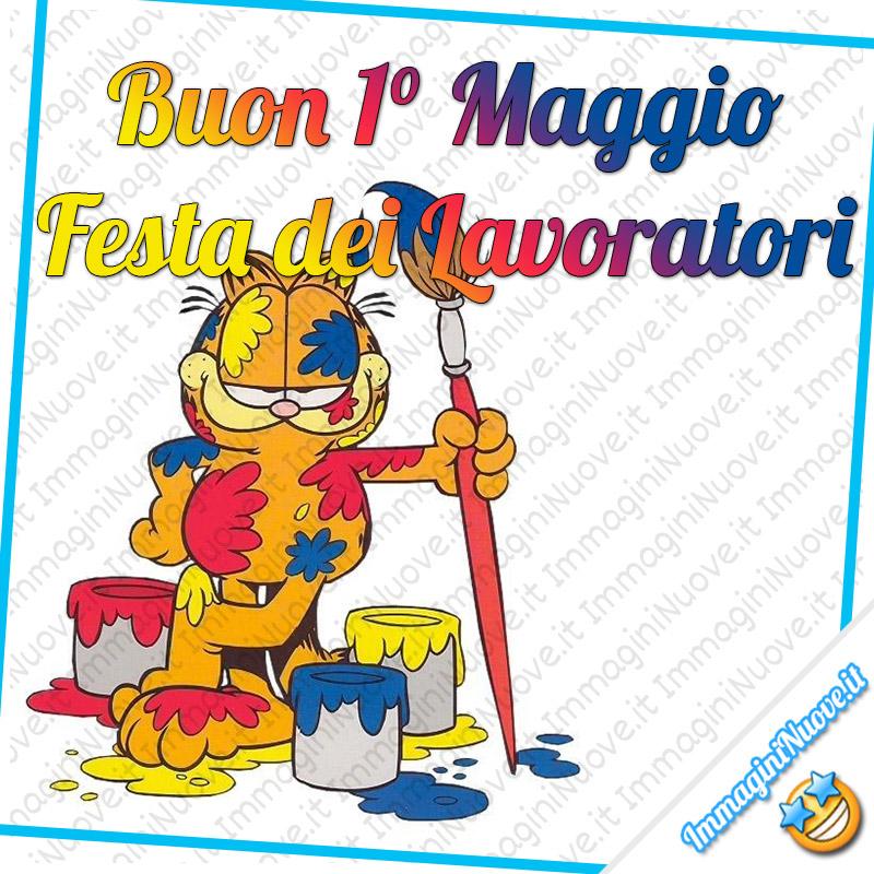 """Garfield - """"Buon 1° Maggio Festa dei Lavoratori"""""""