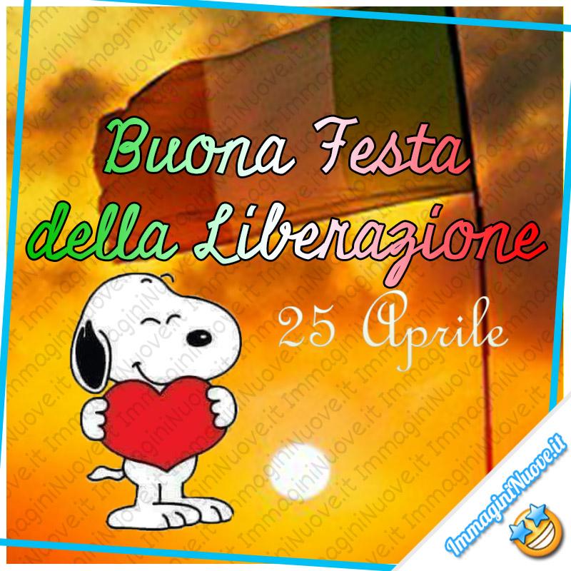 """""""Buona Festa della Liberazione. 25 Aprile"""" - Snoopy"""