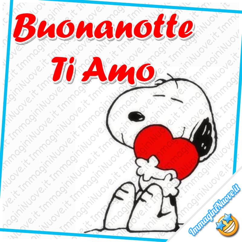 """""""Buonanotte Ti Amo"""" - immagini nuove Snoopy"""