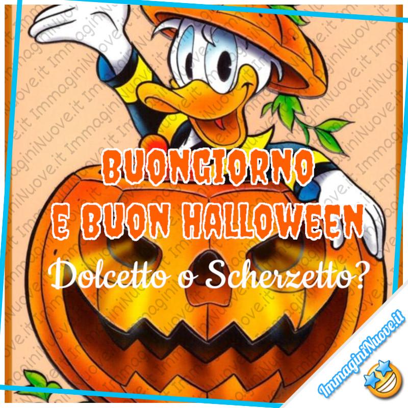 """Paperino: """"Buongiorno e Buon Halloween! Dolcetto o Scherzetto?"""""""