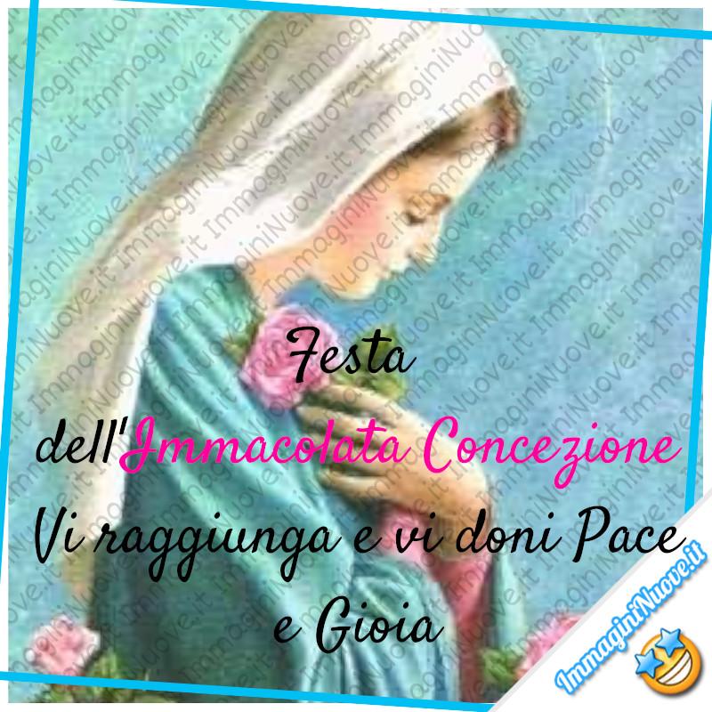 Festa dell'Immacolata Concezione. Vi raggiunga e vi doni Pace e Gioia!