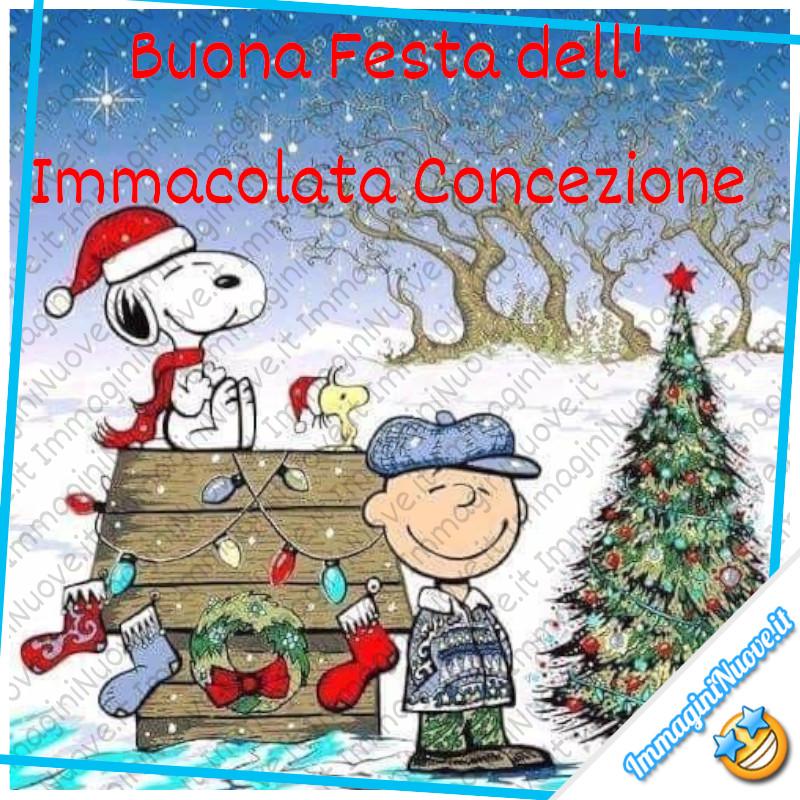 Buona Festa dell'Immacolata Concezione - da Snoopy e i suoi amici