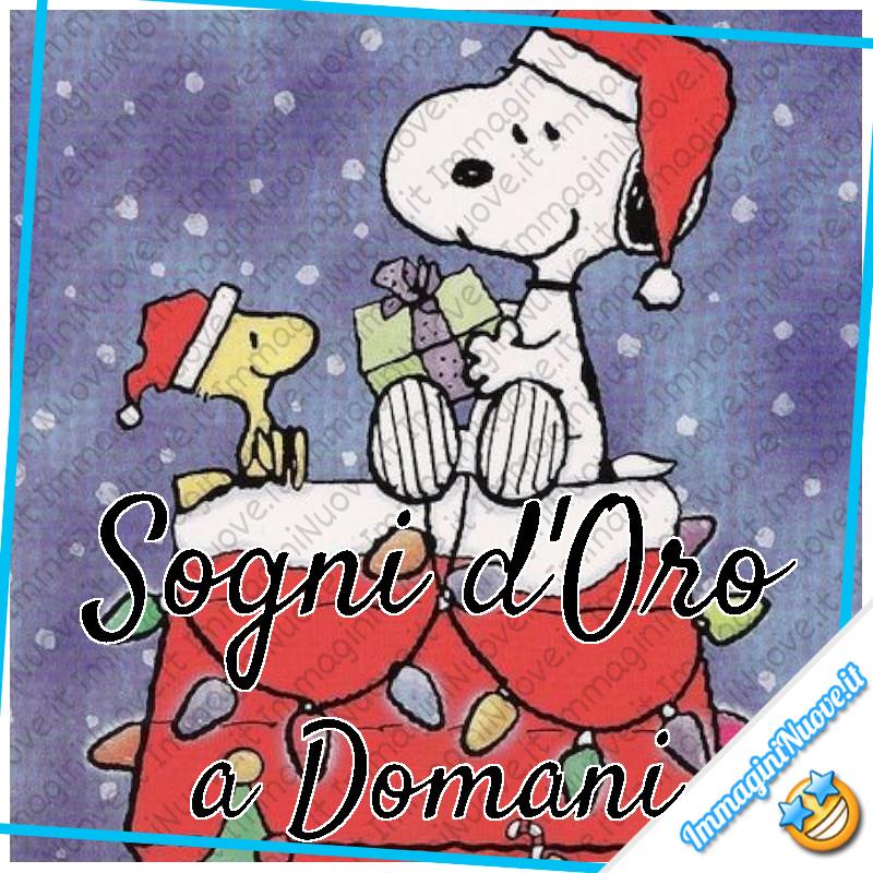 """Snoopy e il Natale - """"Sogni d'Oro, a Domani"""""""