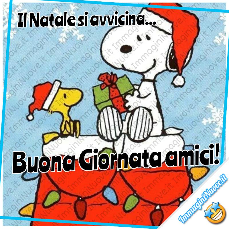 """""""Il Natale si avvicina... Buona Giornata amici!"""" - da Snoopy e Woodstock"""